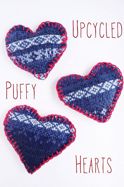 DIY Upcycled Puffy Hearts For Home Decor