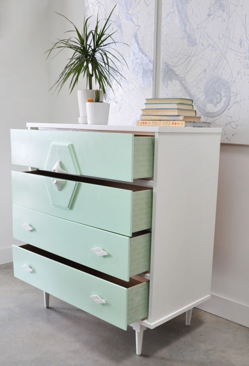 Diy Upcycled Vintage Painted Dresser Shelterness