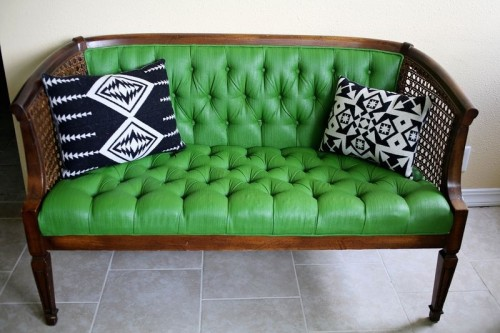 sofa painted green