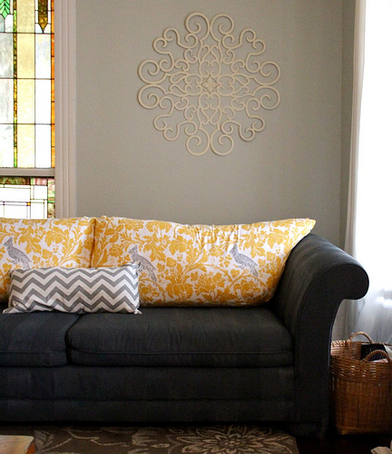 painted upholstered sofa (via biblicalhomemaking)
