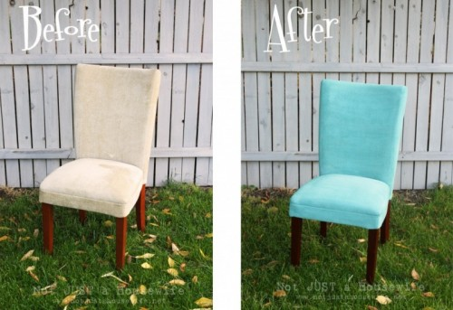 painted upholstered chair (via notjustahousewife)