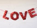 Diy Valentine Glitter Garland