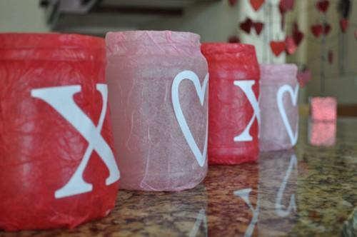 Diy Valentine Luminaries