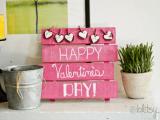 pink pallet Valentine sign