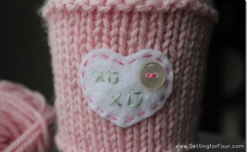 Diy Valentines Day Cup Cozy