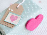 DIY box with a felt heart