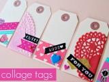DIY vintage Valentine tags