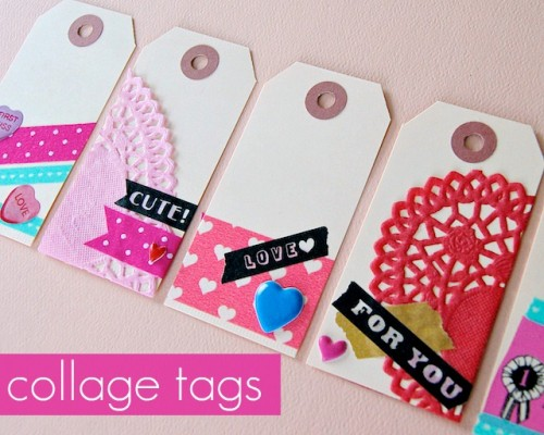 DIY vintage Valentine tags (via omiyageblogs)