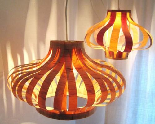 DIY Veneer Pendant Lights
