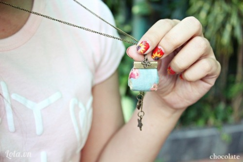 Cute DIY Vintage Purse Pendant