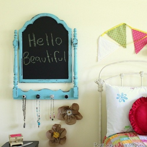 Diy Vintage Chalkboard Jewelry Hanger