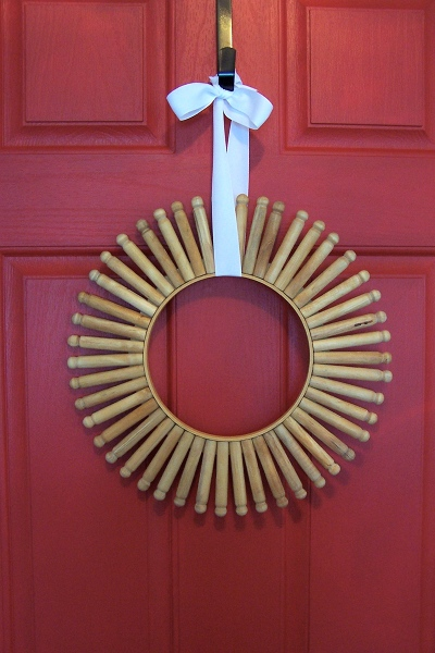 Clothes Pin Wreath How To Make