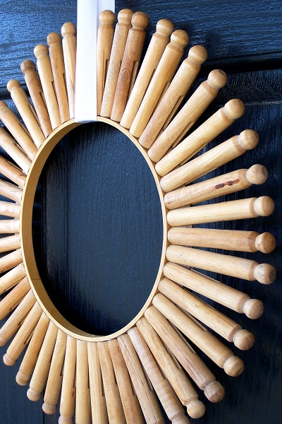 Diy Vintage Clothespin Wreath Shelterness