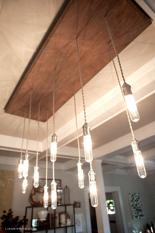 Diy Vintage Inspired Industrial Chandelier Shelterness