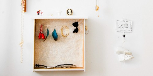 Diy Vintage Jewelry Holder Of An Old Drawer