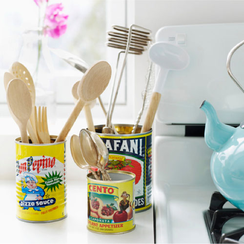 Cool Idea To Make Vintage Kitchen Organizers