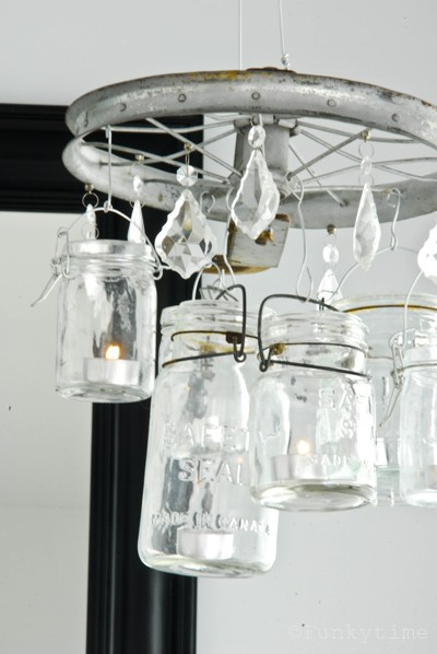 Diy Vintage Lookng Mason Jar Chandelier