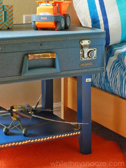 Diy Vintage Suitcase Bedside Table