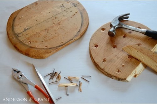 Diy Vintage Table Of A Cutting Board