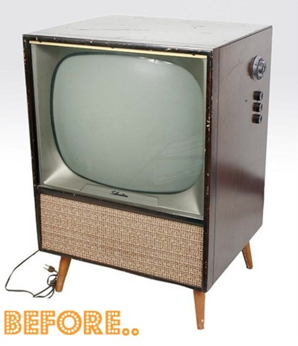 Diy Vintage Tv Set Bar