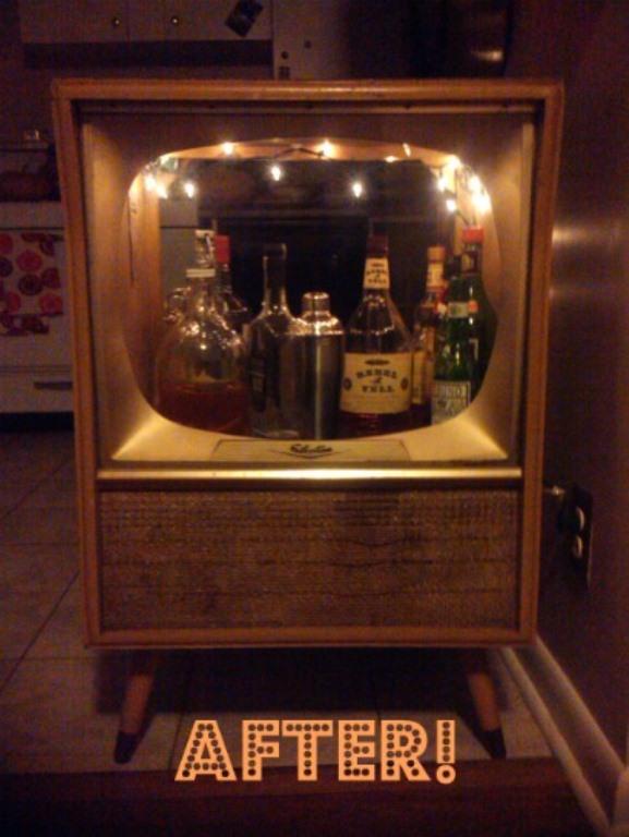 Diy Vintage Tv Set Bar