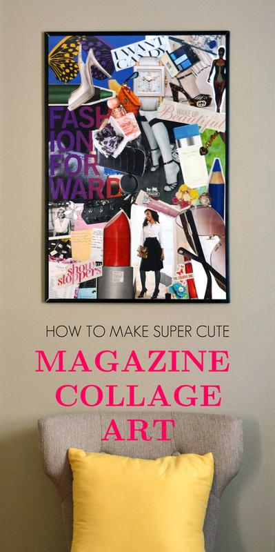magazine collage wall art