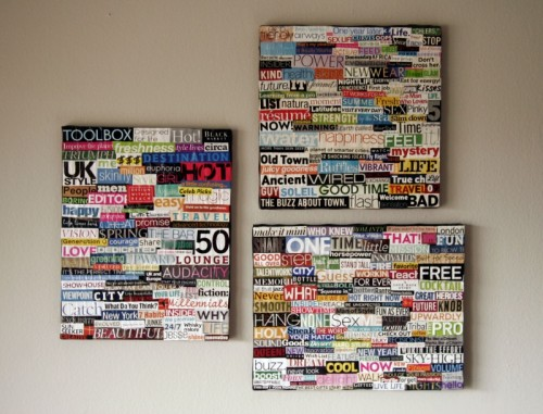 easy collage art (via allputtogether)