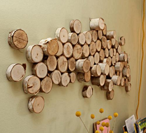 Diy Wall Art From Wood Logs