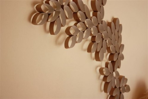Diy Wall Art Made Of Paper Rolls