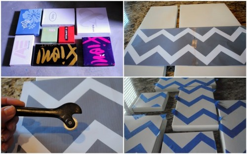 Diy Wall Art Of Shoeboxes