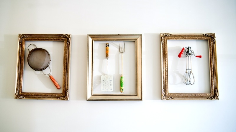 Kitchen Wall Decor Diy : Picture of diy wall art vintage kitchen tools