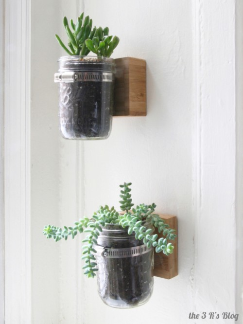 Diy Wall Mason Jar Planter Shelterness