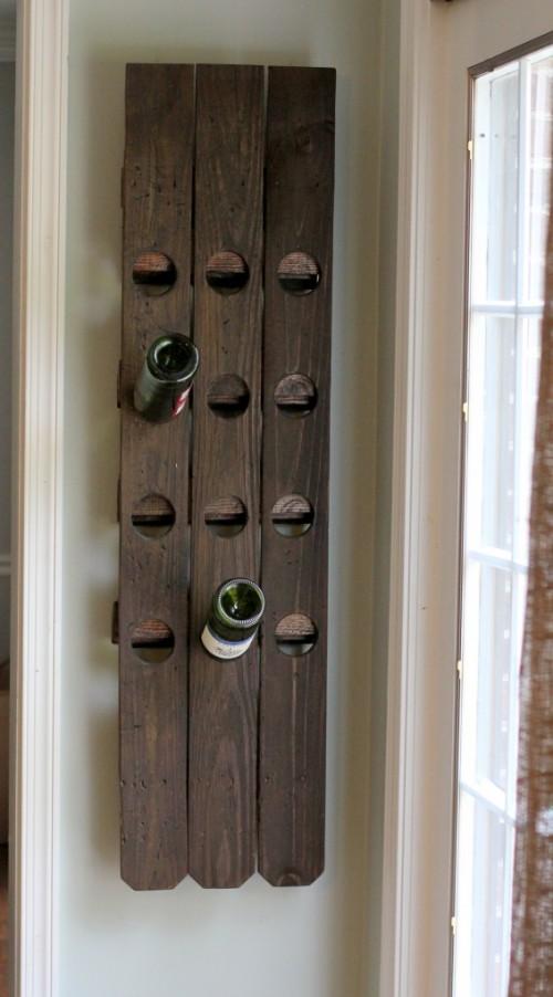 Diy Wine Glass Wall Rack Diy Wall Mount Riddling Wine