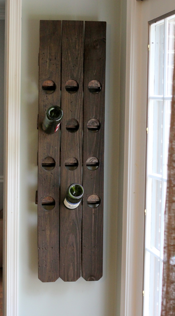 Diy Wall Mount Riddling Wine Rack From A Fence