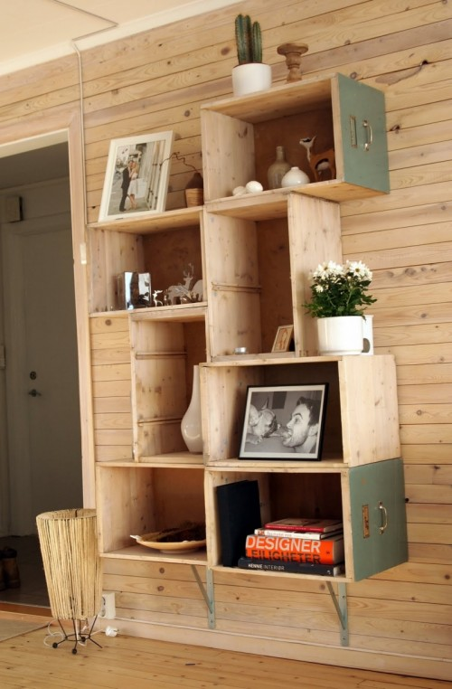 Shelves Made From Drawers 500 x 762