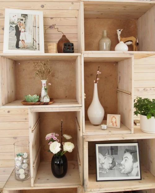 Diy Wall Storage Made Of Drawers