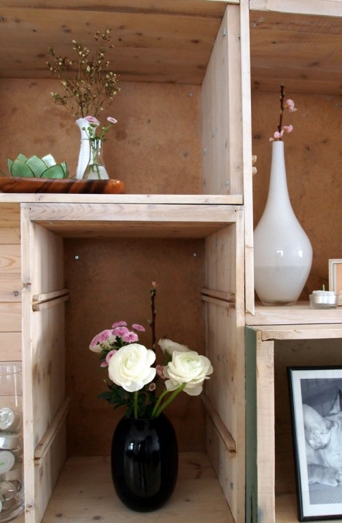 DIY Bookcase Made Of Old Drawers Shelterness