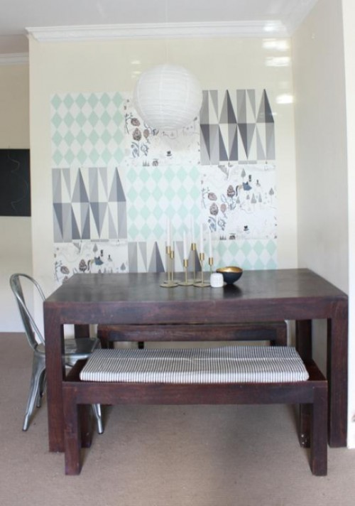 Diy Wallpaper Mosaic To Decorate Your Walls
