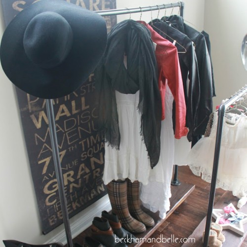 DIY Industrial Wardrobe Racks For You And Your Kid