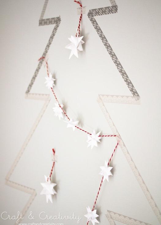 Diy Washitape Christmas Tree