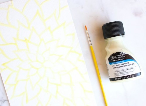 DIY Watercolor Wall Art Piece For Beginners