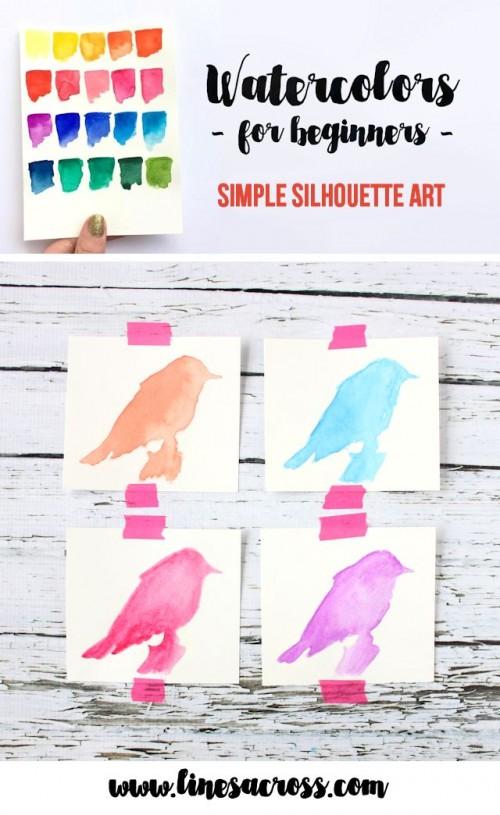 watercolor bird art (via linesacross)