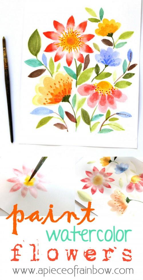 watercolor flowers art (via apieceofrainbow)