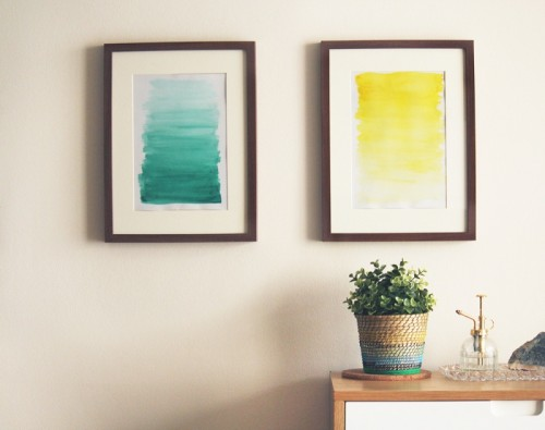 ombre watercolor art (via makerssociety)