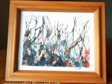 straw painting watercolor art