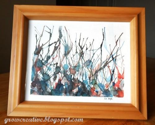 straw painting watercolor art (via growcreative)