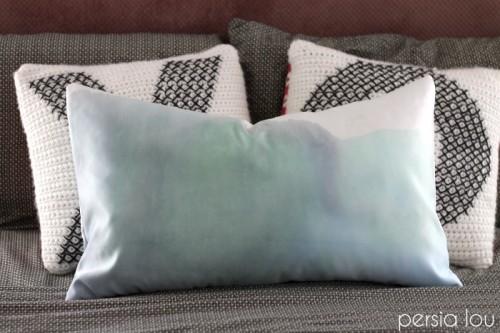 watercolor pillow (via persialou)