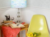 watercolor lampshade