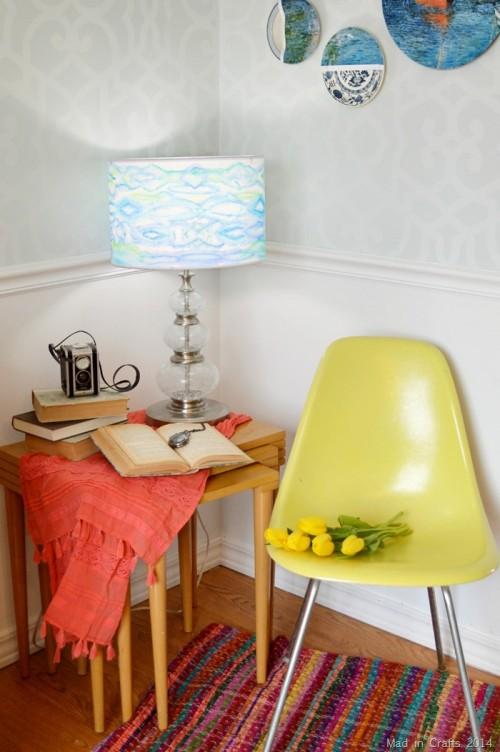 watercolor lampshade (via madincrafts)
