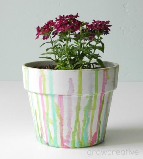 dripped watercolor pot (via growcreative)